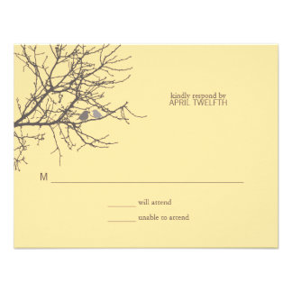 Sitting in a Tree Wedding Response Custom Invite