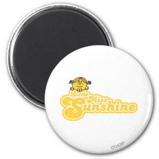 Sitting Little Miss Sunshine 6 Cm Round Magnet