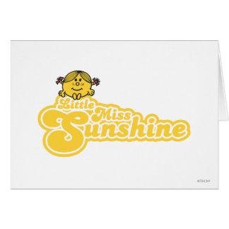 Sitting Little Miss Sunshine Greeting Card