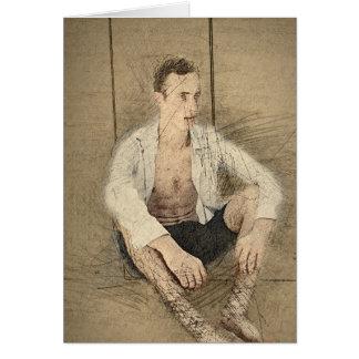 Sitting Man Card
