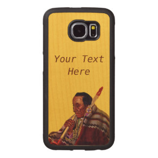 Sitting Native American Peace Pipe Blanket Feather Wood Phone Case