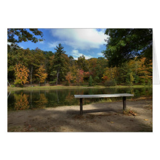 Sitting on the bench Rockwell park Bristol CT Card