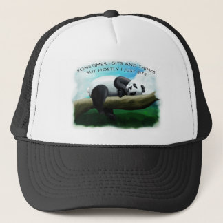 Sitting Panda Trucker Hat