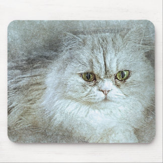 Sitting Pretty Kitty | Abstract | Watercolor Mouse Pad