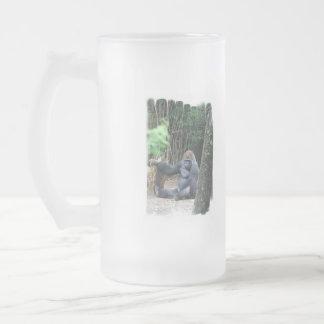 Sitting Silverback Gorilla  Frosted Mug