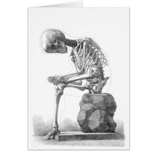 Sitting Skeleton Card