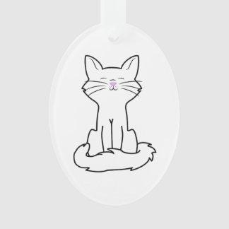 Sitting White Cat