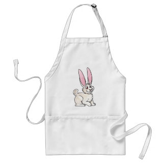 Sitting White Rabbit Standard Apron