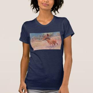 Sivatherium Prehistoric Animal Antique Print T-shirt