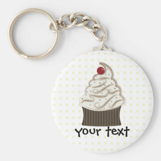 Siwrly chocolate and vanilla basic round button key ring