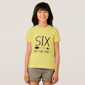Six And Awesome 6th Birthday Gift (Light) T-Shirt