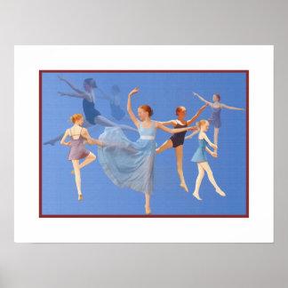 Six Ballerinas Dancing Poster