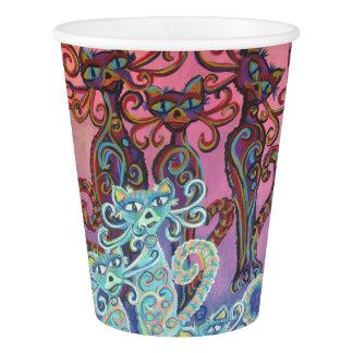 six cats paper cup