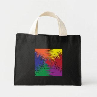 six colors rough tote canvas bags