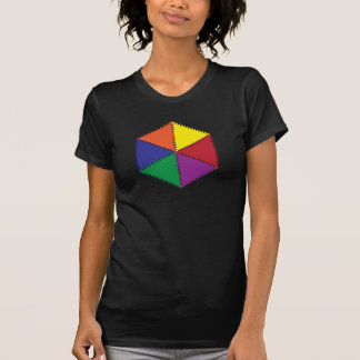 six colors zig zag shirt