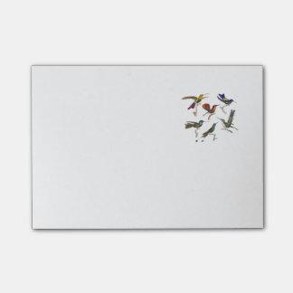 Six Colourful Hummingbirds Post-it Notes