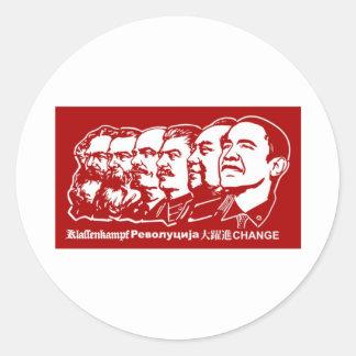 Six Communists Classic Round Sticker