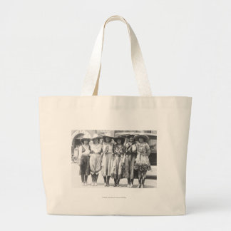 Six cowgirls at Cheyenne Frontier Days. Large Tote Bag