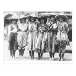 Six cowgirls at Cheyenne Frontier Days. Post Card