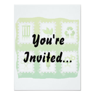 six eco stamps design taped on green.png custom invitations