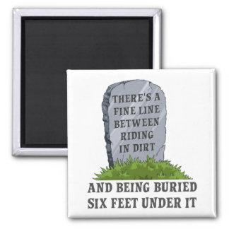 Six Feet Under Dirt Bike Motocross Fridge Magnet F