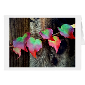 Six Leaves Change Greeting Card