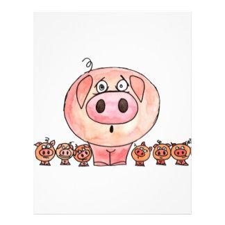 Six Little Pigs 21.5 Cm X 28 Cm Flyer