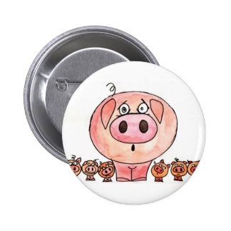 Six Little Pigs Button