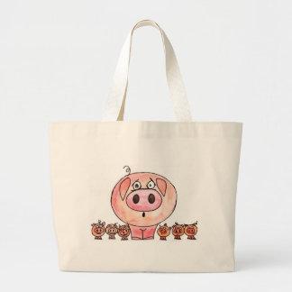 Six Little Pigs Jumbo Tote Bag