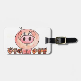 Six Little Pigs Luggage Tag