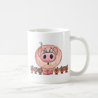 Six Little Pigs Coffee Mugs