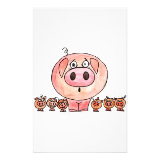 Six Little Pigs Stationery Design