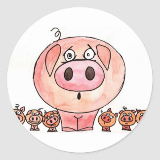 Six Little Pigs Stickers