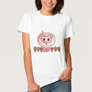 Six Little Pigs T Shirt