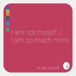 Six @ Little Spiral @ lyric stickers — Not Myself
