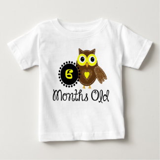 Six Months old adorable Owl Baby T-Shirt