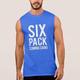 Six Pack Coming Soon funny men's Sleeveless Shirt