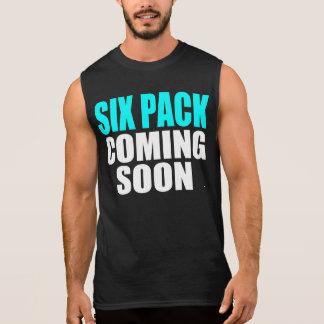 Six Pack Coming Soon Sleeveless Shirt