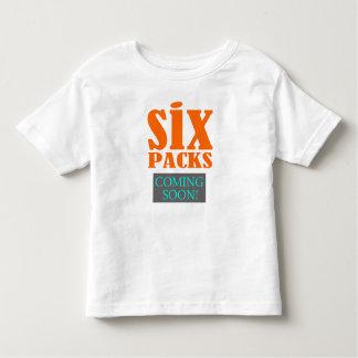 'Six Packs - Coming Soon!' Funny T-Shirt