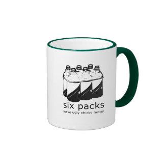 SIX PACKS MAKE UGLY CHICKS HOTTER T-shirt Mug