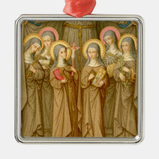 SIx Poor Clare Saints (SAU 027) Metal Ornament