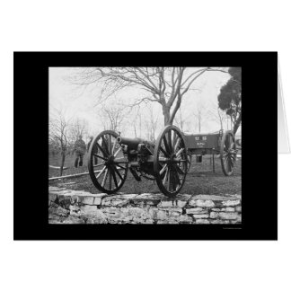 Six Pounder Artillery Gun in Washington, DC 1862 Card