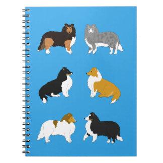 Six Shelties Spiral Note Book