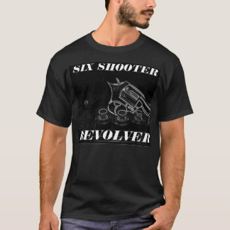 SIX SHOOTER REVOLVER BLACK SHIRT
