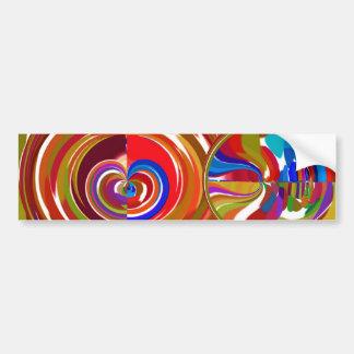 Six Sigma Circles - Reiki Color Therapy Plates V8 Car Bumper Sticker