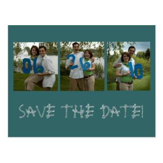 six, twentysix, ten, SAVE THE DATE! Postcard