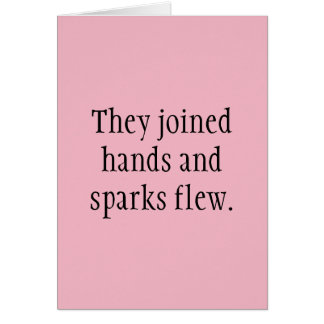 Six-word Story Card: The Joined Hands Card