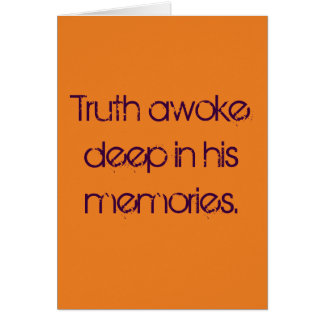 Six-word Story Card: Truth Awoke Card