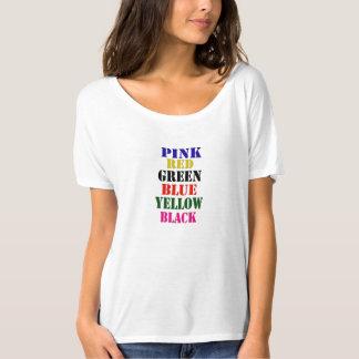 six words on ladies t shirt