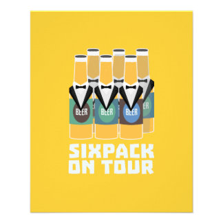 Sixpack Beer on Tour Zn1pu 11.5 Cm X 14 Cm Flyer